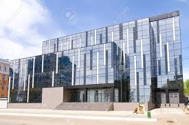 office building facade. SARANSK, RUSSIA - MAY 9: Modern Office Building With Glass Facade On May 9