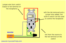outlet switch combo wiring diagram outlet image wiring diagrams for household light switches do it yourself help com on outlet switch combo wiring