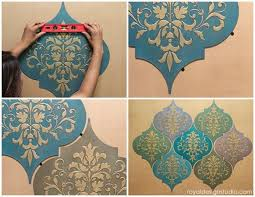 stenciled wall art how to stencil moroccan dreams wood shapes decor in