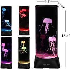 Jellyfish Tank Mood Light Amazon Zgmdahome Jellyfish Lamp Large Electric Jellyfish Aquarium Jellyfish Tank Mood Light With 7 Alternating Colors Perfect As Kids Night Lamps Or