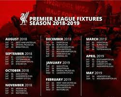 Anfield road, anfield, liverpool, l4 0th. Sports4life On Twitter Liverpool S Schedule For The Premierleague Season 2018 19 Reds Are Going To Have A Magical Season Liverpool Liverpoolfc Https T Co 2laxfr6ldg