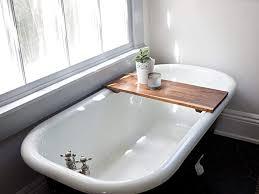 clawfoot tub bath caddy doubtful com modern bathtub tray wooden smooth interior design 11