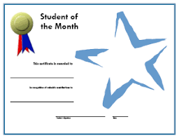Student Of The Month Certificate Templates A Media Specialists Guide To The Internet 20 Places To