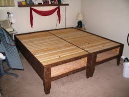 ... Twin Platform Bed Frame With Storage Gallery And Diy For Under All  Within Diy Twin Platform ...