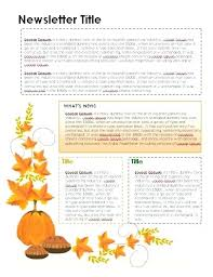 Free Thanksgiving Newsletter Template In Word Format