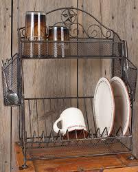 Western Kitchen Metal Star Dish Rack Kitchenware Decor Gifts Fort