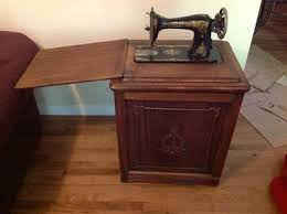rare antique singer treadle sewing machine in enclosed cabinet ebay