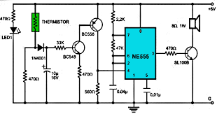 fire alarm using ne555 electronics knowledge pinterest fire alarm project report at Fire Alarm Circuit Diagram