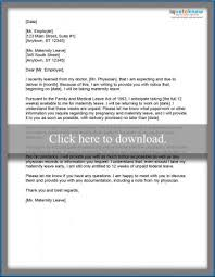 Sick Leave Letter From Doctor Printable Examples Of Maternity Leave Letters Lovetoknow