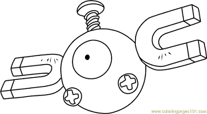 Small Picture Magnemite Pokemon Coloring Page Free Pokmon Coloring Pages