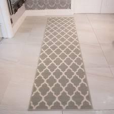 rug on carpet in hallway. Modern Grey Taupe Trellis Runner Rug Long Narrow Soft Trendy Hallway Mats On Carpet In L