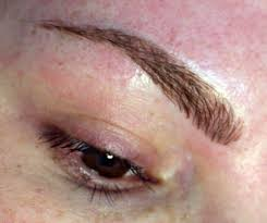 eyebrow cosmetic tattoo hair stroke feathering method only