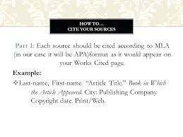 Mla Works Cited Template 10 Example Of Mla Works Cited Page Lycee St Louis