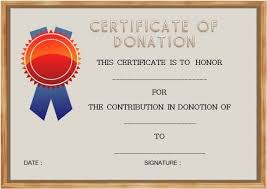 Donation Certificate Template Awesome Donation In Memory Of Certificate Template Unofficialdb