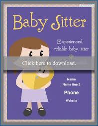 Babysitting Flyer Template Free Babysitting Flyer Templates And Ideas Lovetoknow