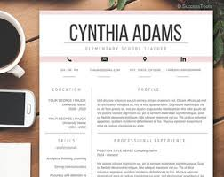 Resume 2 Pages Teacher resume Etsy 72