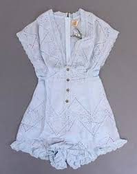 Angel Biba Size Chart Lulumari Powder Blue Embroidered Eyelet Romper Fully Lined