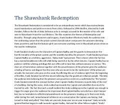 """shawshank redemption themes essay movie analysis """"the shawshank redemption"""" themes"""