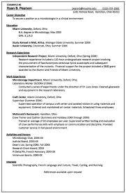 Sample Resume For Microbiologist Microbiology Resume Samples