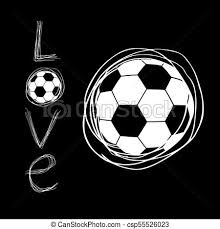 cool soccer love art symbol csp55526023