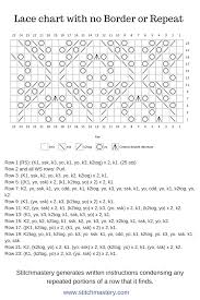 Stitchmastery Knitting Chart Editor Lace Knitting Chart Free Stitch Pattern That Shows An