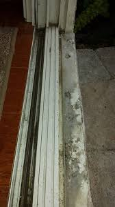 aluminum track corroded threshold sliding patio door rotted