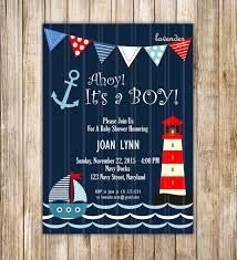 Nautical Ahoy It's a Boy Baby Shower
