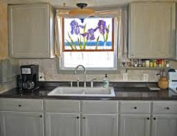 mobile home kitchen makeover new sink and faucet