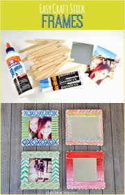 diy photo frame ideas with paper craft stick decorated frames diy craft by club chica circle