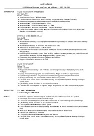 Cadd Technician Resume Samples | Velvet Jobs