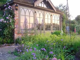 Of Romantic Cottage Gardens With Blossoming Summer Flowers And Romantic Cottage Gardens