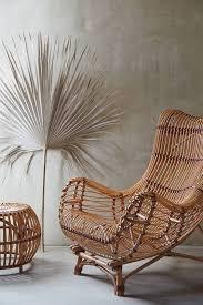 sculptural rattan furniture pieces