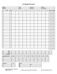 Baseball Score Book Pages Blank Basketball Score Book Pages Free Wiring Diagram For You