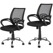 best choice s ergonomic computer home office chair w mesh design black w chrome legs com