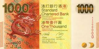 Image result for HK $1,000 bill photo