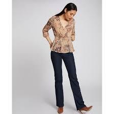 <b>Блузка</b> с цветочным принтом, перекрестным воротником ...