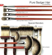 pure badger hair for oil painting highest quality silver tipped pure badger hair is perfect for blending softening oil paint on the canvas