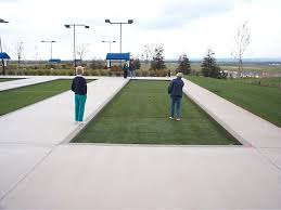 residential club bocce courts using artificial turf grass surfaces