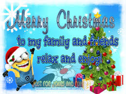 merry christmas family quotes. Beautiful Christmas Merry Christmas To My Family And Friends Minion Quote For Quotes W