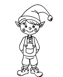 Small Picture Coloring Pages Christmas Elf Coloring Page Free Printable
