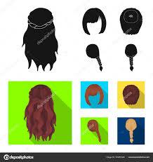 カラ赤い三つ編みとヘアスタイルの他の種類バックの髪型は黒