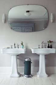 vintage bathroom lighting ideas bathroom. Want HIS And HER Pedestal Sinks Yup Weu0027ve Got Doubles Double In A London Bathroom As Seen Remodelista Manual For The Considered Home Vintage Lighting Ideas 1