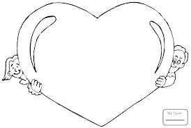 Love Heart Colouring Pages Printable Coloring Pages With Hearts