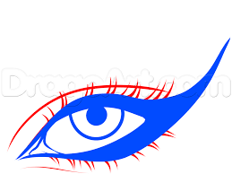how to draw cat eye makeup step 3