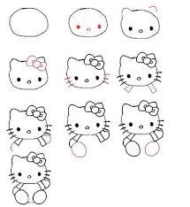キティちゃんの書き方 Hello Kitty Awesomness スケッチかわいい