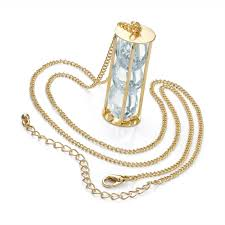 gold colour crystal barrel design chain necklace jpg