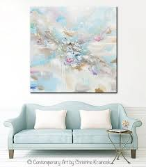 original art abstract light blue white painting large 48x48 canvas coastal grey beige aqua wall art decor on coastal wall art near me with original art abstract blue white painting large 48 coastal wall