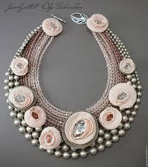 Купить <b>Колье</b> 'Blossom' - бледно-розовый, <b>серебристый</b>, цветы ...
