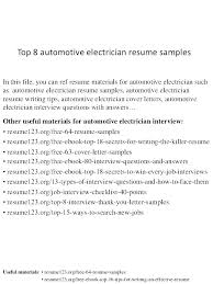 Electrical Resume Sample Journeyman Electrician Cover Letter