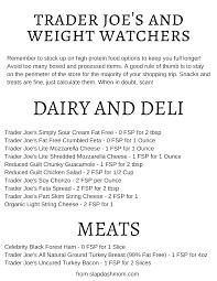 weight watchers friendly trader joe s ping list